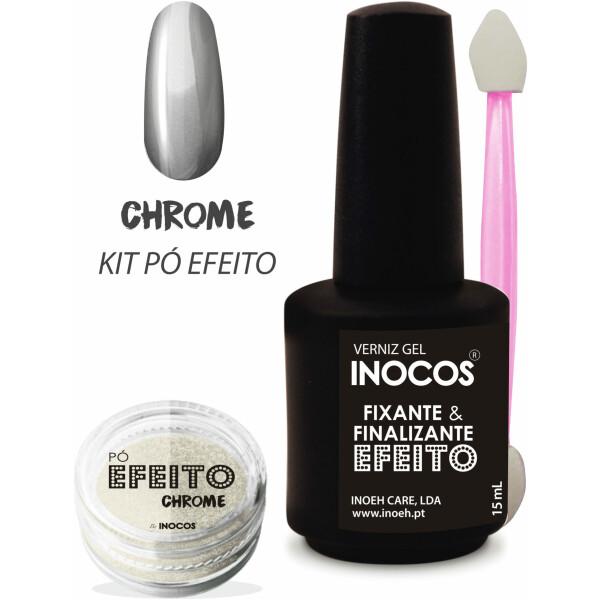 Inocos Kit Pó Efeito Chrome