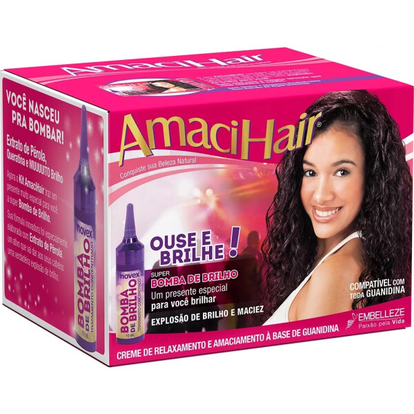 Novex Amachihair Kit Relaxamento e Alisamento