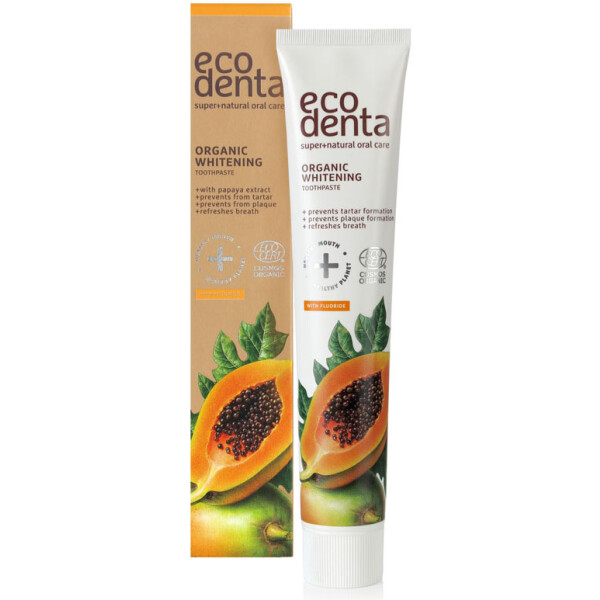 Eco Denta Pasta de Dentes Bio - Papaia 75ml